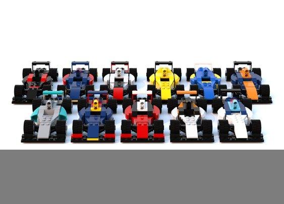 The 2016 F1 grid, made of lego bricks! | DRIVETRIBE