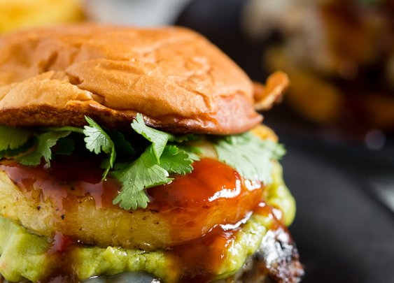 BBQ Pineapple Burger