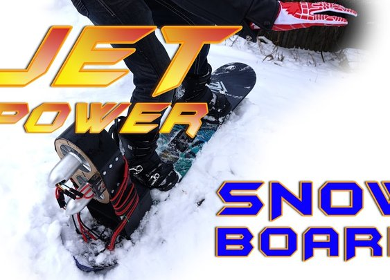 Jet-Powered Snowboard