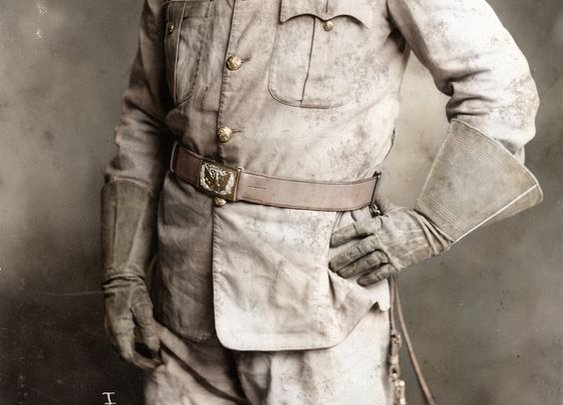 Teddy Roosevelt in His Rough Riders Uniform