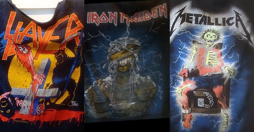 Slayer, Maiden, Metallica and more in an amazing trove of '80s heavy metal shirts|Dangerous Minds