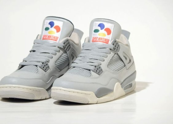 Super Nintendo Sneakers with Clickable Buttons