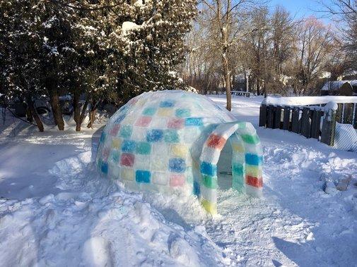DIY Ice Block Igloo