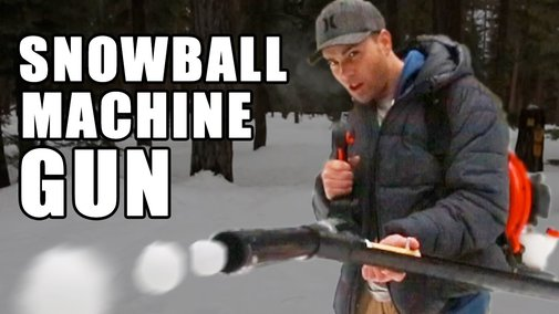 How to make a Snowball Machine Gun