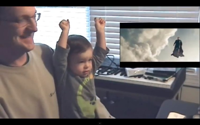 This Baby's First Time Watching Superman Fly Is The Most Inspirational Thing You'll See All Day