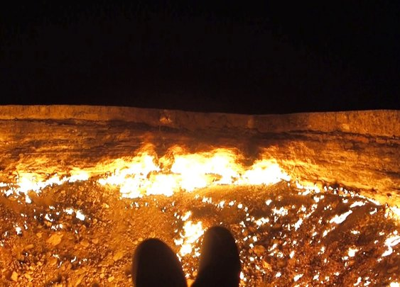 Camping at the Door To Hell