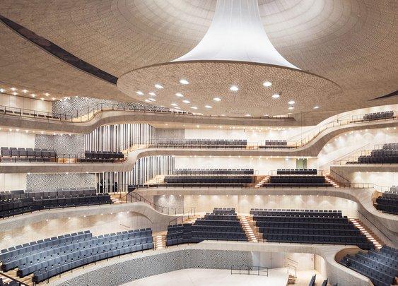 What Happens When Algorithms Design a Concert Hall