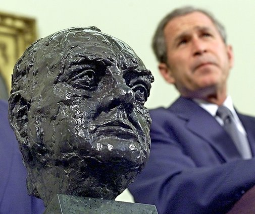 President Trump returns bust of Churchill to Oval Office - Washington Times