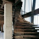 Spiral Staircase Made From Beams