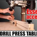 How to Build a Handy Drill Press Table