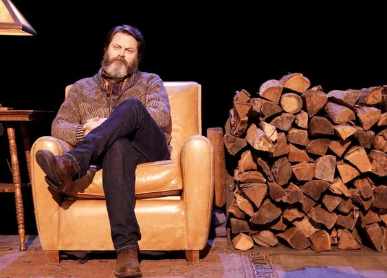 Nick Offerman Recites a Poem About Firewood