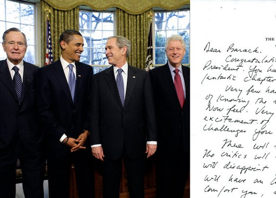 Past US Presidents Write a Revealing Presidential Letter to Successors