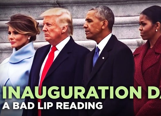 """INAUGURATION DAY"" — A Bad Lip Reading of Donald Trump's Inauguration - YouTube"