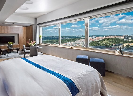One-Room Hotel Offers Sweeping Views Of Prague From a Tower