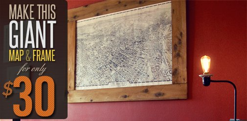 Make This Giant Map & Frame For Only $30 | Primer