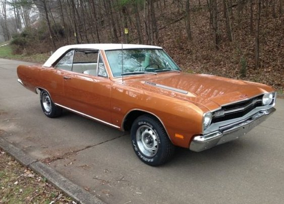 Fresh Copper: Restored 1969 Dodge Dart GTS 4-Speed |  Bring a Trailer