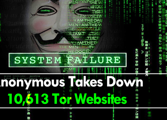 Anonymous Hacks And Takes Down 10,613 Tor Websites On Dark Web