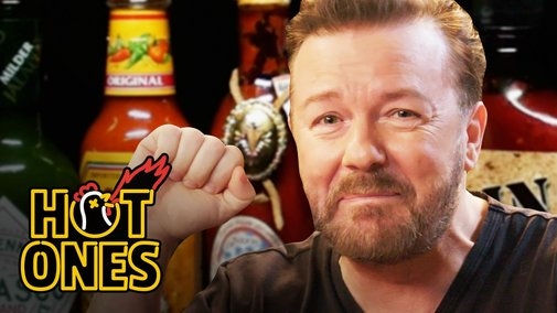 Ricky Gervais Pits His Mild British Palate Against Spicy Wings