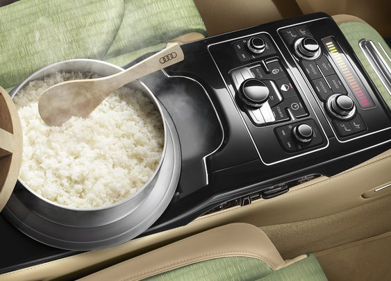 Audi News extra 2015.4.1 | Audi Japan debuts special edition A8 featuring a rice cooker