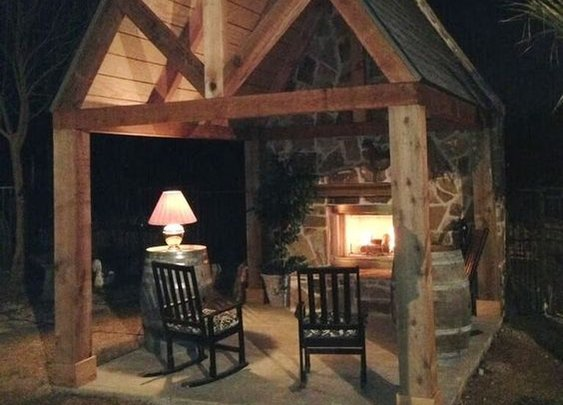Backyard Fireplace
