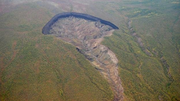 BBC - Earth - In Siberia there is a huge crater and it is getting bigger