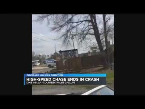 Police chase ends in airborne crash