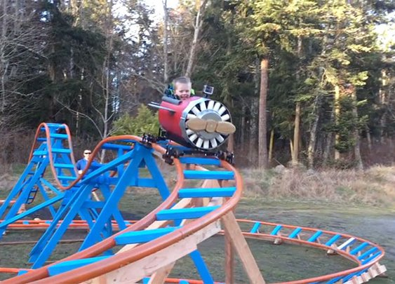 Navy Pilot Builds His 3-Year Old Son an Incredible Backyard Roller Coaster