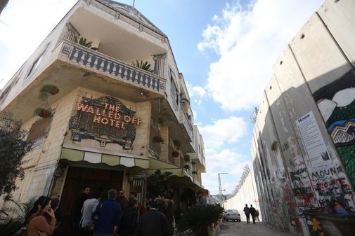 "Banksy's New Hotel Has The ""Worst View in the World"""