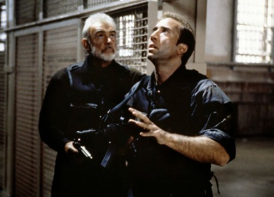 Cage and Connery bust into The Rock, the one good movie Michael Bay ever gave us