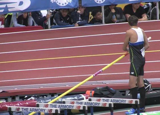 "17-Year-Old Mondo Duplantis 19'-1"" Pole Vault Jump"