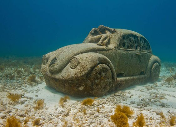 The Spectacular Underwater Museum in Cancun, Mexico