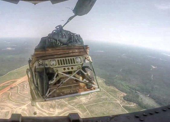 Humvee Airdrop From C-17