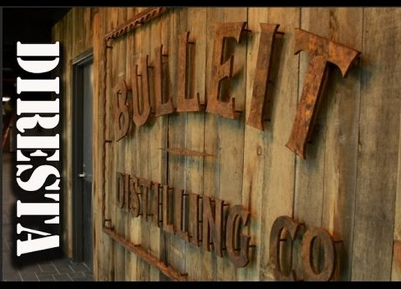 DiResta Bulleit Whiskey Sign Made with Steel