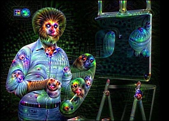 Bob Ross' Neural Net Psychedelic Nightmare Creator