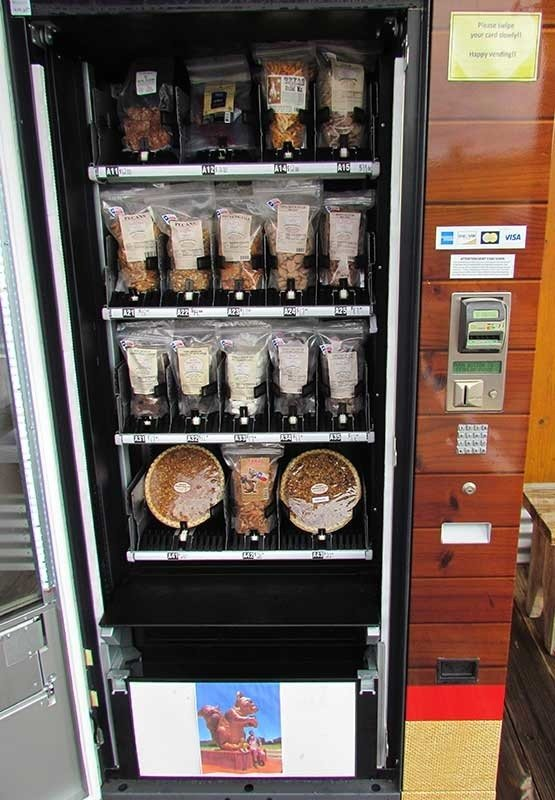 Pecan Pie Vending Machine – Cedar Creek, Texas- Atlas Obscura