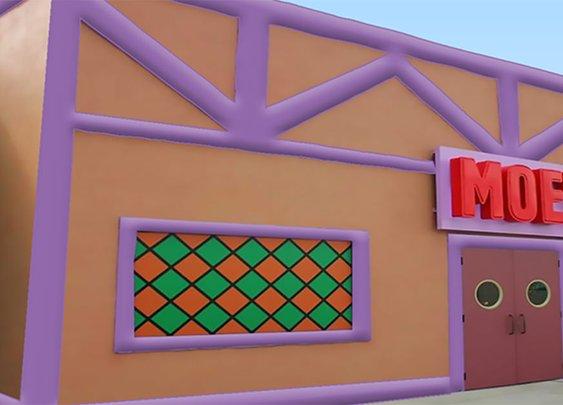 Drink Like Homer Simpson In An Inflatable Moe's Tavern   VinePair