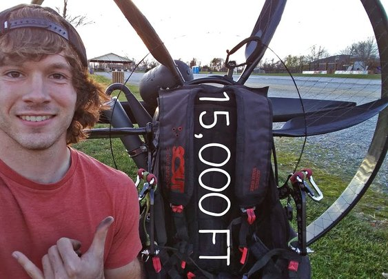 Flying To 15,000 Feet On My Paramotor - Paravlog #12 - YouTube