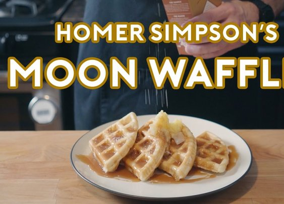Homer Simpson's Patented Space Age Out-Of-This-World Moon Waffles