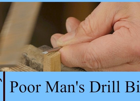 Poor Man's Drill Bit with Paul Sellers