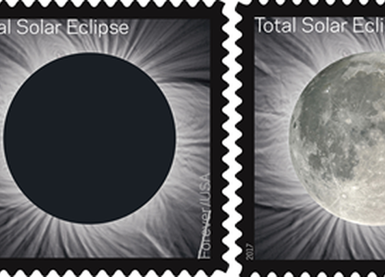 Total eclipse of sun on Forever stamp