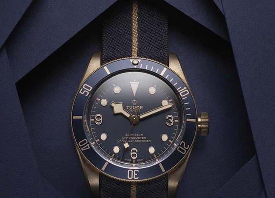 Tudor Heritage Black Bay Bronze Blue for Bucherer