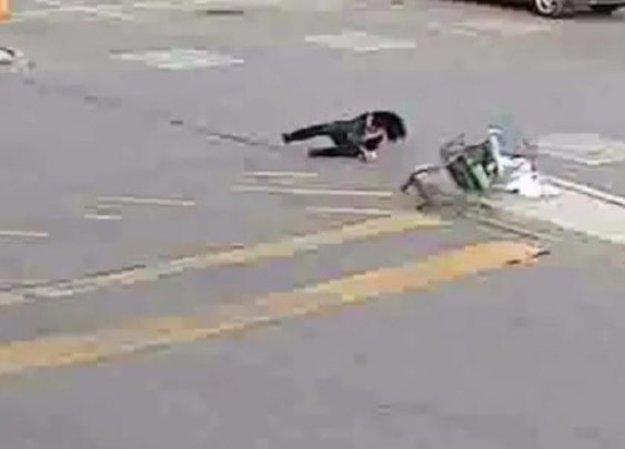 WATCH: Shoplifter Falls Flat on Her Face Running Out of Walmart | Fox News Insider