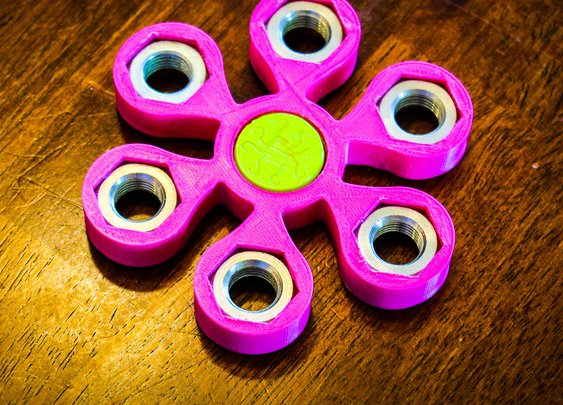 Hex Nut Spinner: 6 Steps