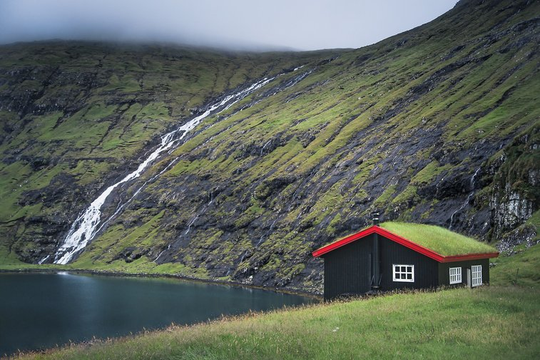 Cabin On the Faroe Islands
