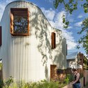 This Australian House Has A Curved Exterior Of Zig-Zag Metal