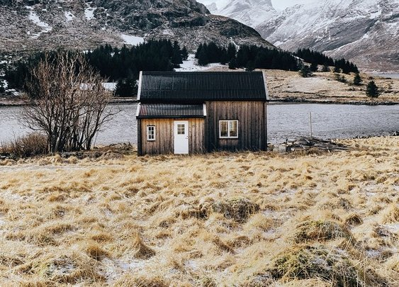 Cabin Home on Loften Islands, Norway
