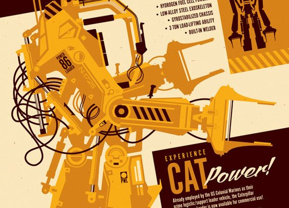 P-5000 Work Loader, An 'Aliens' Inspired Illustration by Tom Whalen