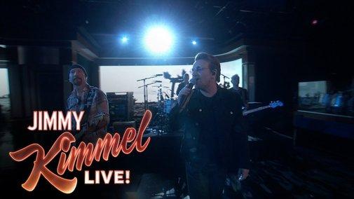 U2's Bono Takes Jimmey Kimmel audience to church