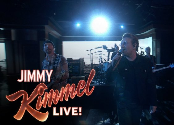 U2's Bono Takes Jimmey Kimmel audience to church