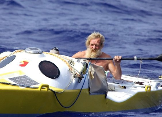 A 70-Year-Old Man Is Crossing the Atlantic in a Kayak